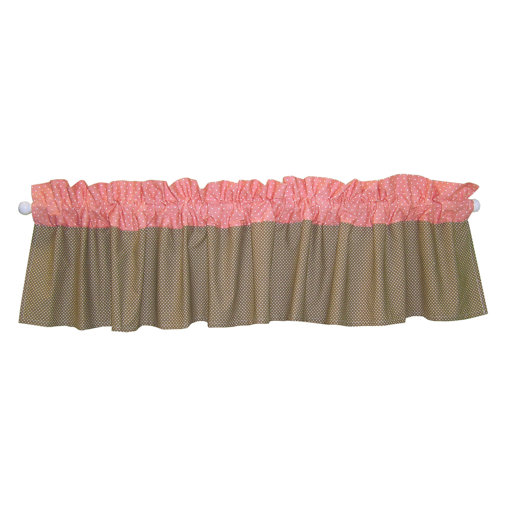 Cocoa Coral Window Valance Trend Lab, LLC