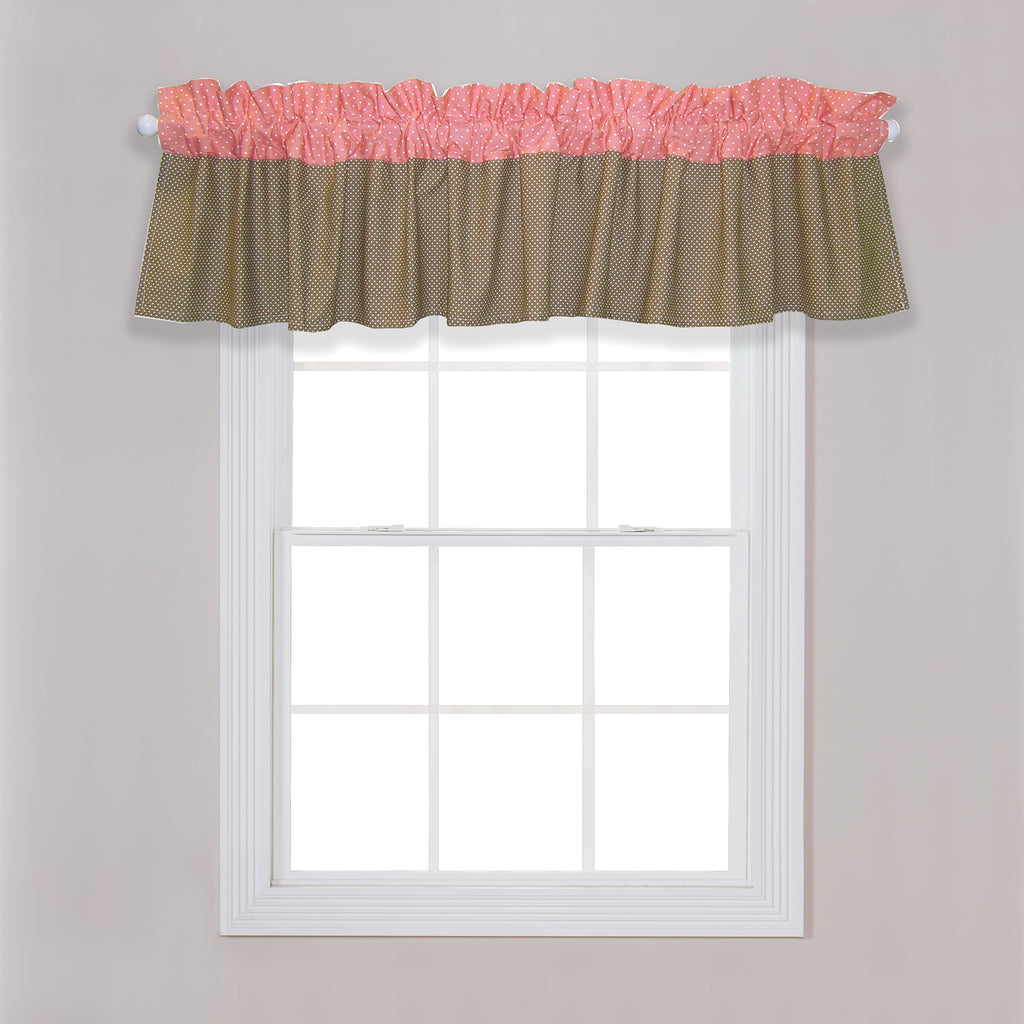 Cocoa Coral Window Valance