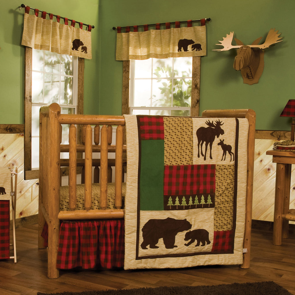 Northwoods 3 Piece Crib Bedding Set Trend Lab, LLC