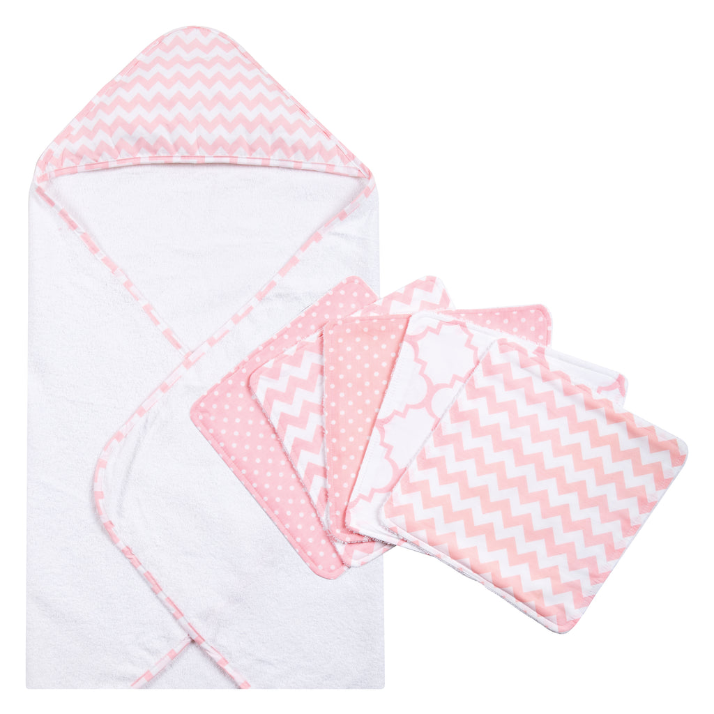 Pink Sky Chevron Hooded Towel and 5 Pack Wash Cloth Set20969$29.99Trend Lab