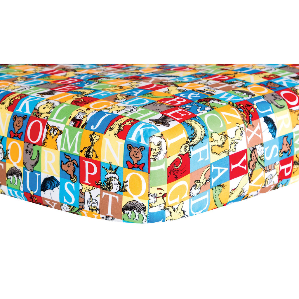 Dr. Seuss™ Alphabet Seuss Squares Crib Sheet30000$17.99Trend Lab