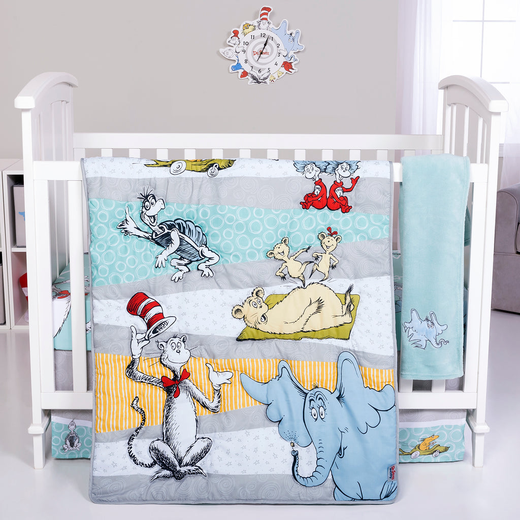 Dr. Seuss™ Book Club 4 Piece Crib Bedding Set Trend Lab, LLC