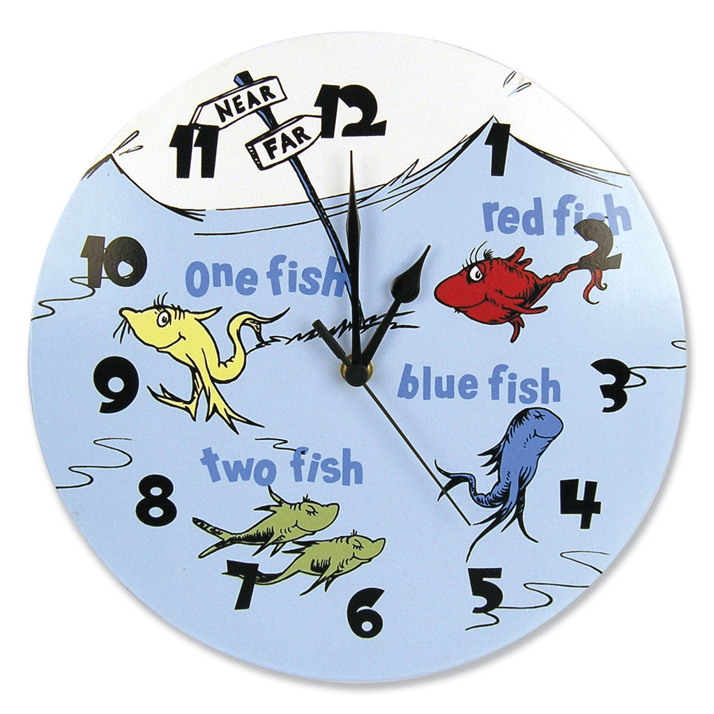 Dr. Seuss™ One Fish Two Fish Wall Clock Trend Lab, LLC