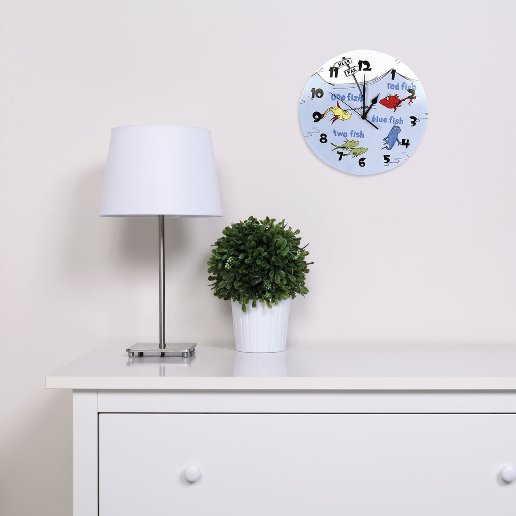 Dr. Seuss™ One Fish Two Fish Wall Clock