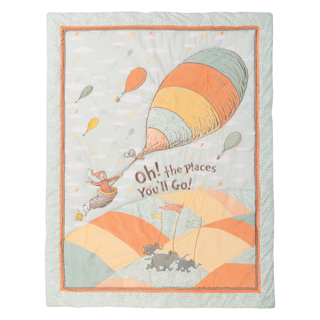 Dr. Seuss™ Oh, the Places You'll Go! Unisex 5 Piece Crib Bedding Set