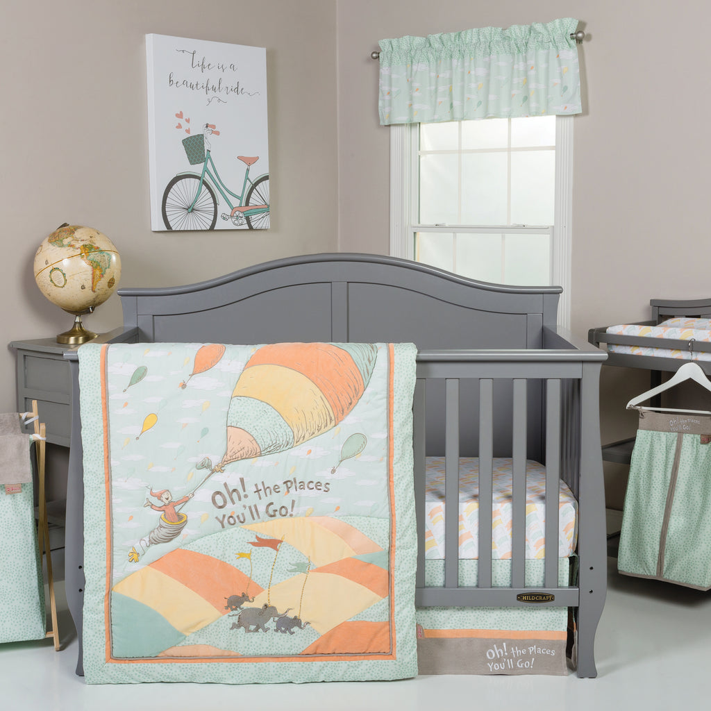 Dr. Seuss™ Oh, the Places You'll Go! Unisex 5 Piece Crib Bedding Set Trend Lab, LLC