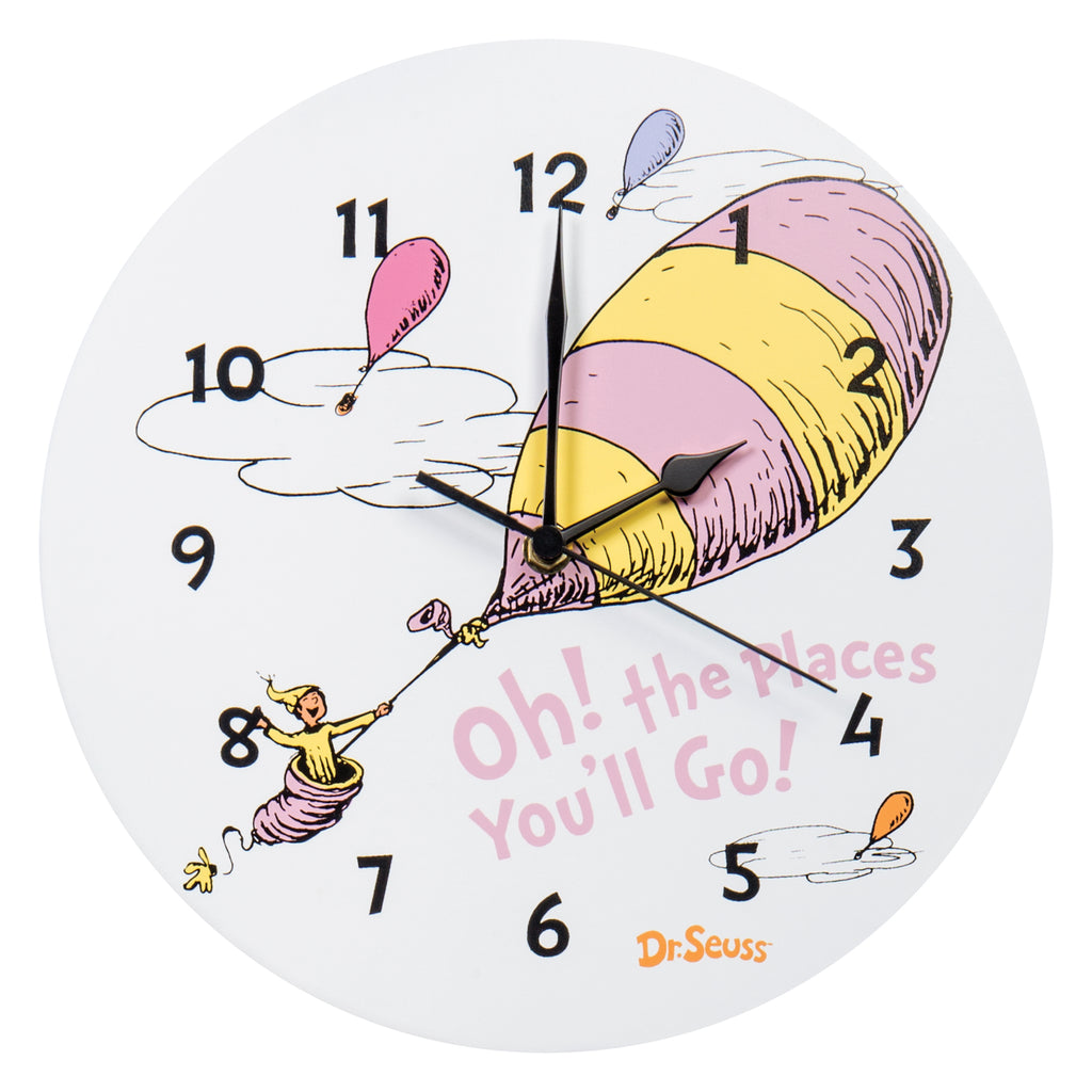 Dr. Seuss™ Oh! The Places You'll Go! Pink Wall Clock Trend Lab, LLC