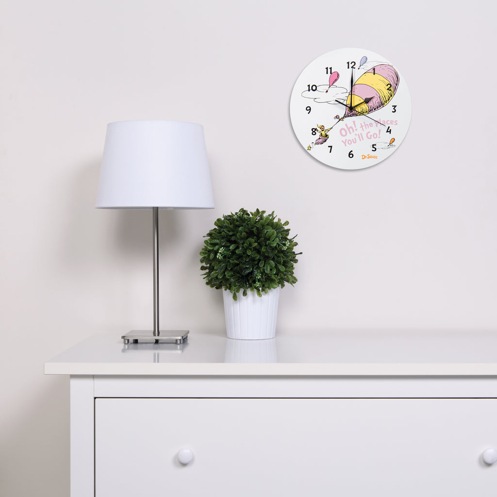 Dr. Seuss™ Oh! The Places You'll Go! Pink Wall Clock