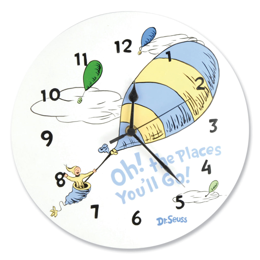 Dr. Seuss™ Oh! The Places You'll Go! Blue Wall Clock Trend Lab, LLC