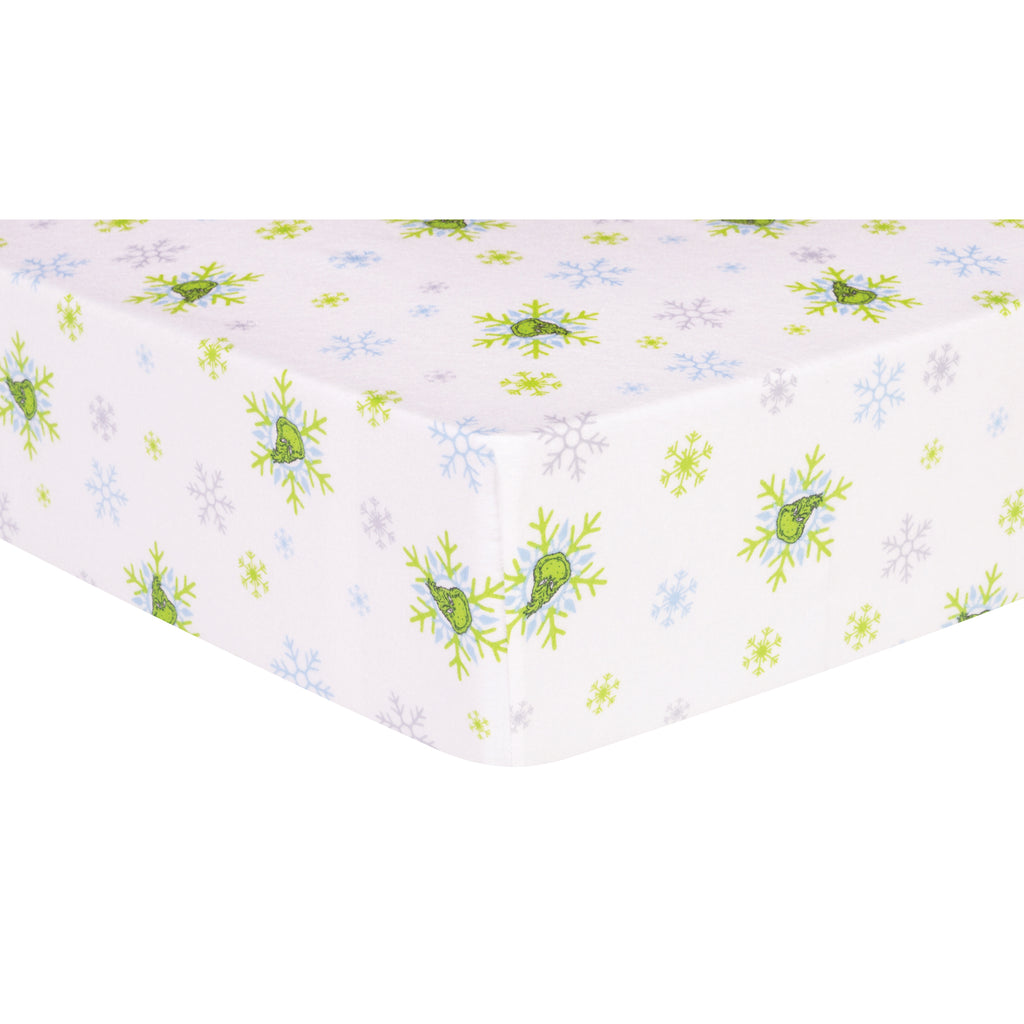 Dr. Seuss™ The Grinch Deluxe Flannel Fitted Crib Sheet Trend Lab, LLC