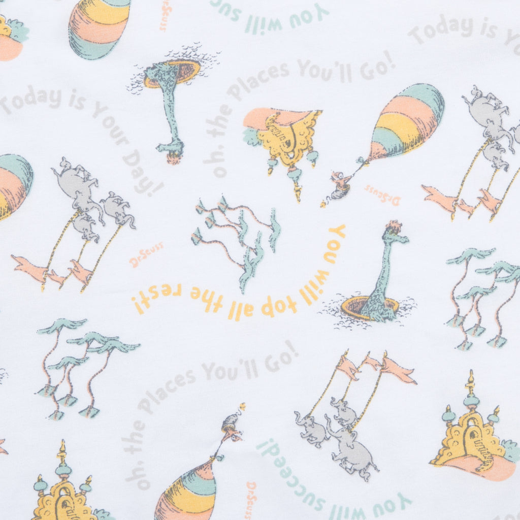 Dr. Seuss™ Oh, the Places You'll Go! Quotes Fitted Crib Sheet Trend Lab, LLC