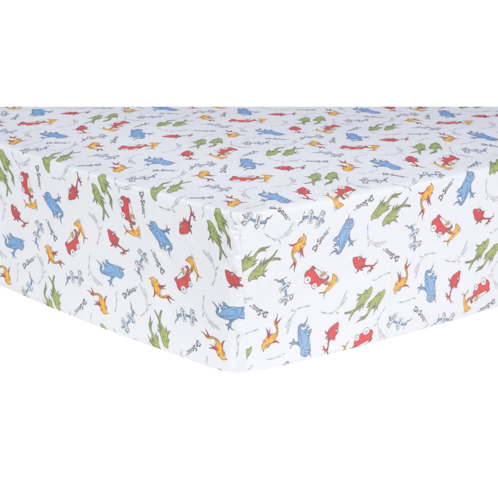 Dr. Seuss™ One Fish, Two Fish Fitted Crib Sheet Trend Lab, LLC