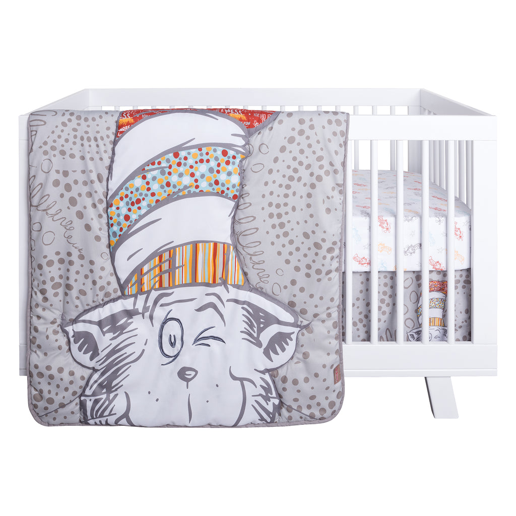 Dr. Seuss™ Peek-a-Boo Cat in the Hat 4 Piece Crib Bedding Set