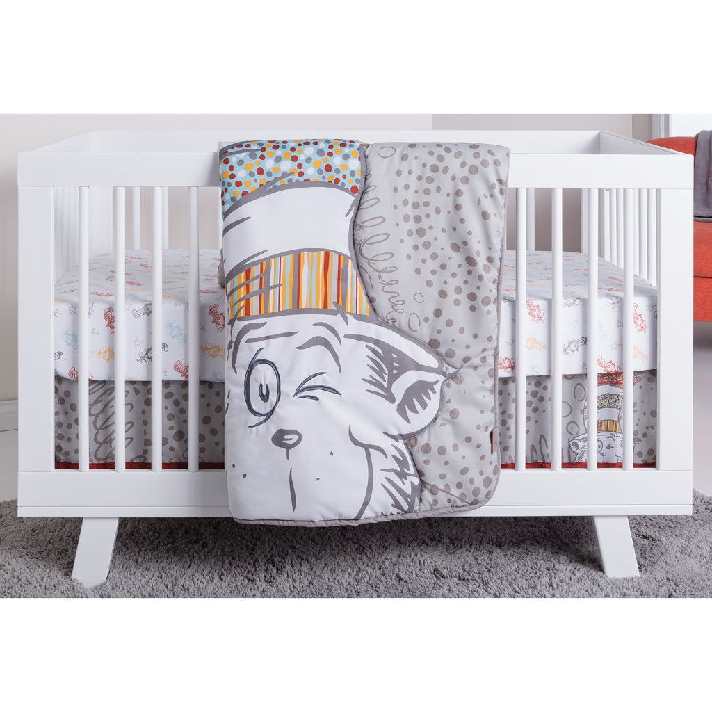 Dr. Seuss™ Peek-a-Boo Cat in the Hat 4 Piece Crib Bedding Set30645$74.99Trend Lab