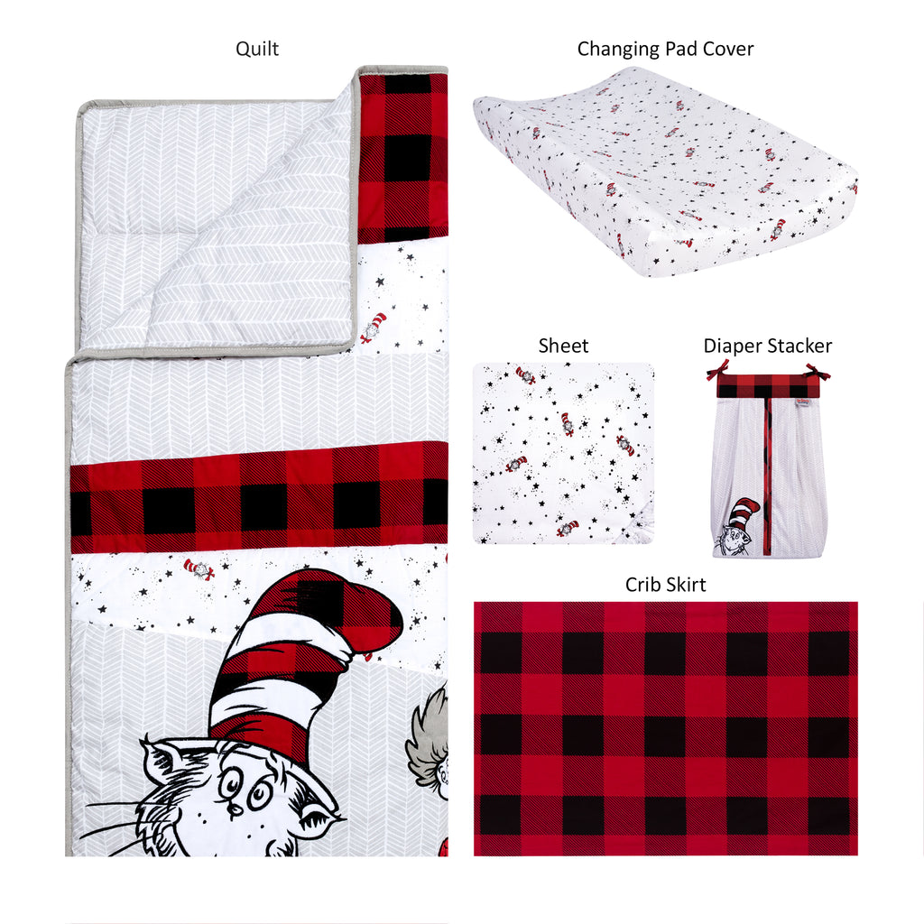 Dr. Seuss™ Lumberjack Cat in the Hat 5 Piece Crib Bedding Set30761$139.99Trend Lab