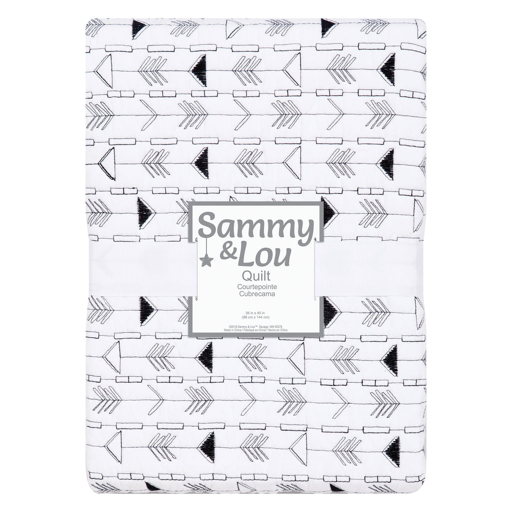Sammy and Lou Black and White Arrows Quilt