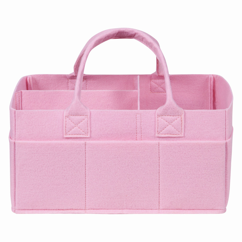 Ice Pink Felt Storage Caddy Trend Lab, LLC