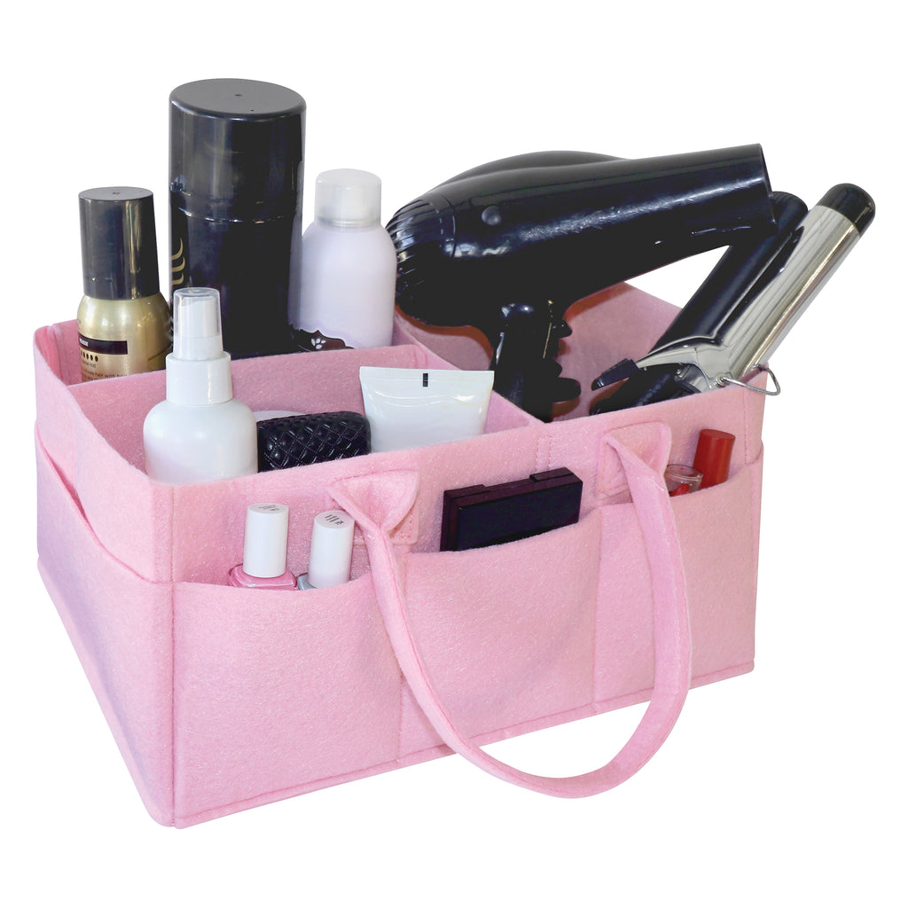 Ice Pink Felt Storage Caddy