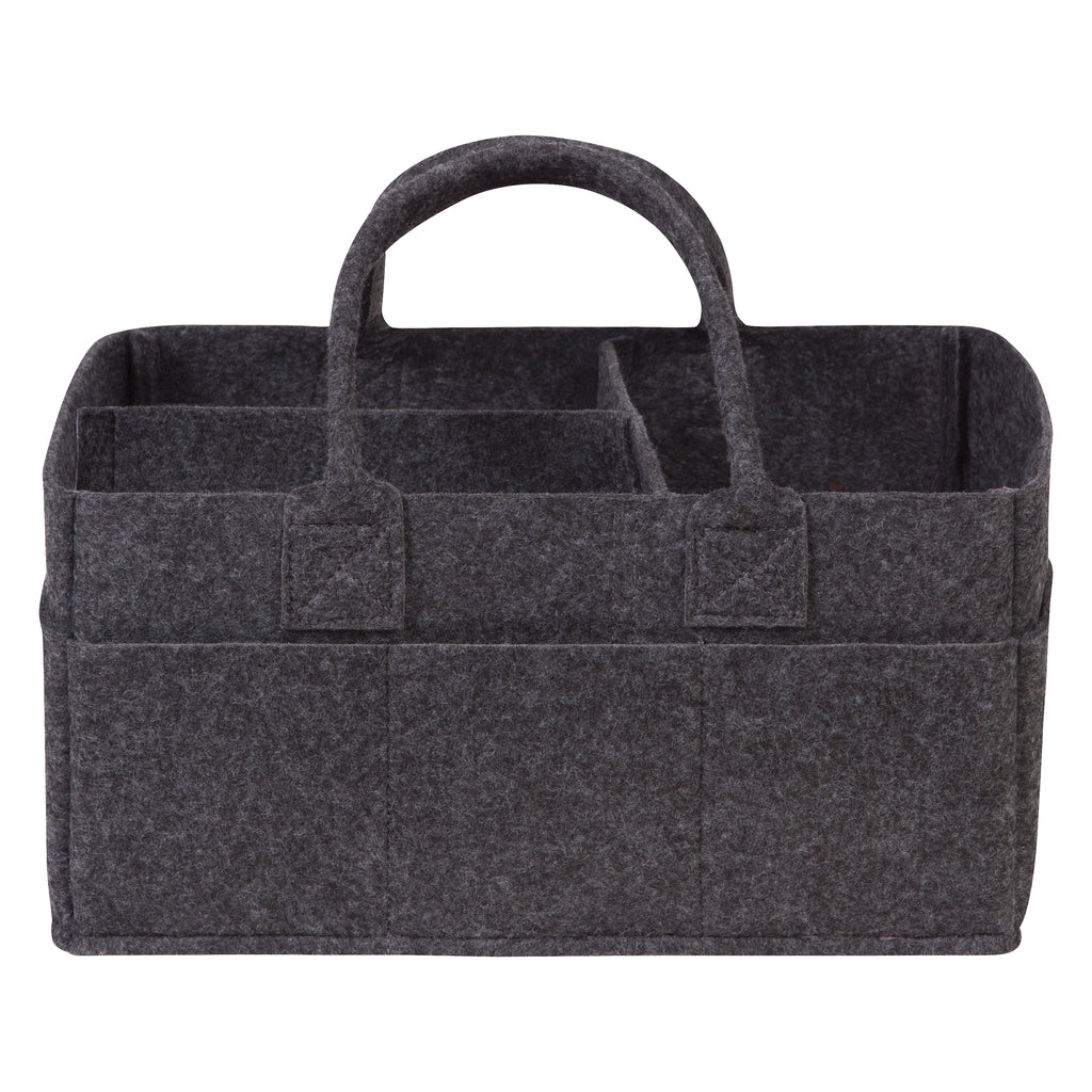 Charcoal Gray Felt Storage Caddy Trend Lab, LLC