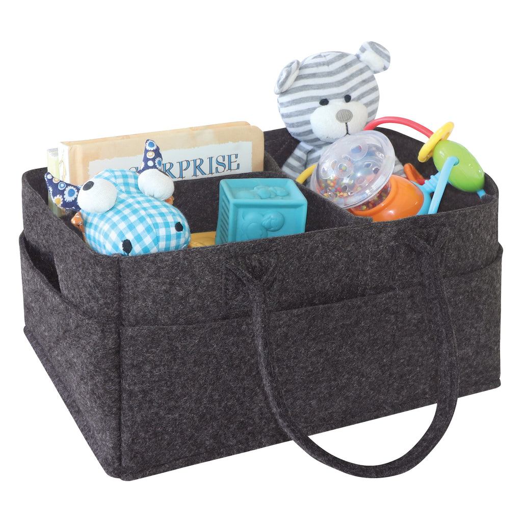 Charcoal Gray Felt Storage Caddy