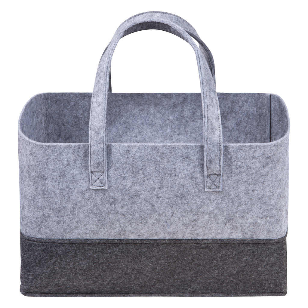 Light and Dark Gray Felt Essential Storage Tote Trend Lab, LLC