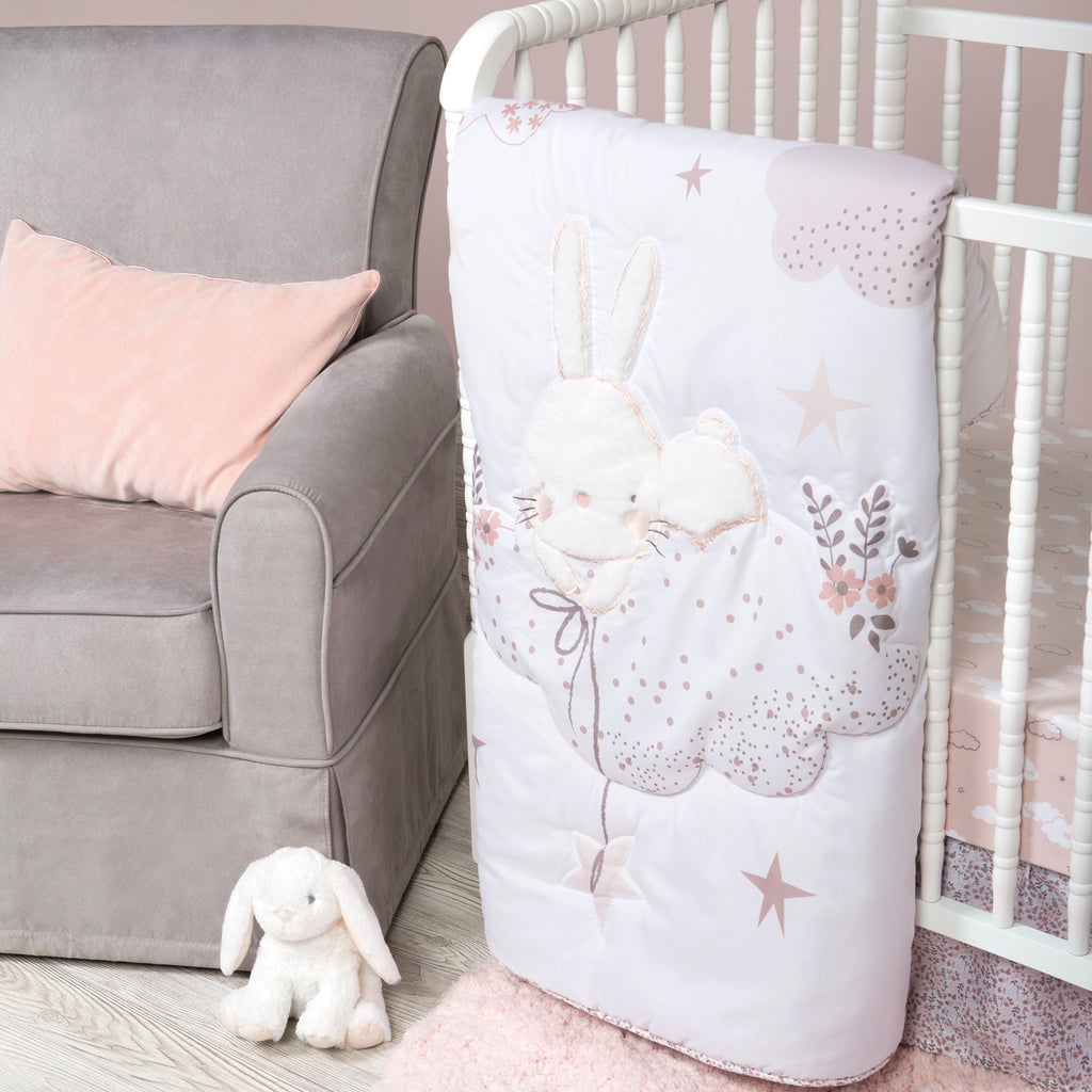 Sammy and Lou Cottontail Cloud 4 Piece Crib Bedding Set Trend Lab, LLC
