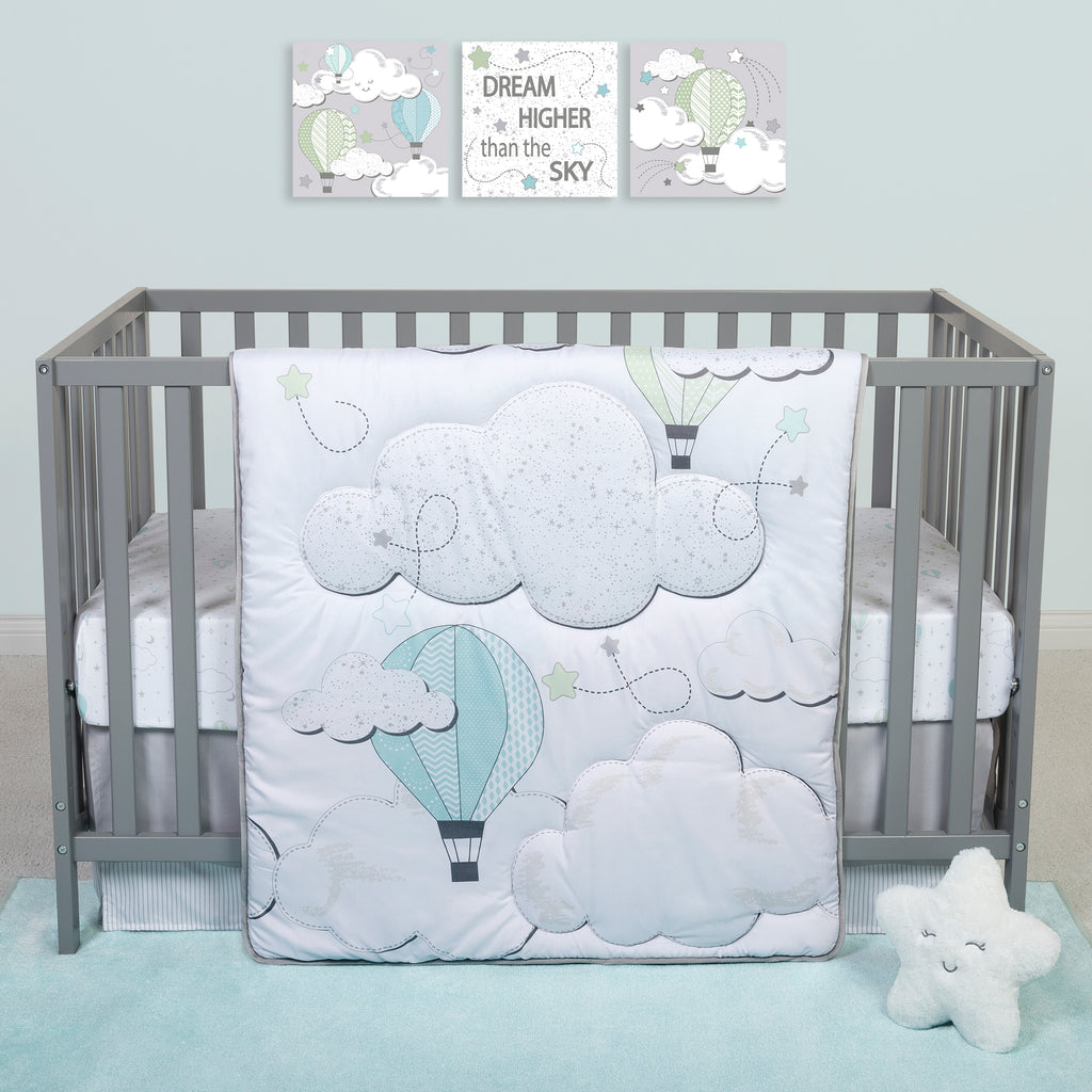 Sammy and Lou Starry Dreams 4 Piece Crib Bedding Set Trend Lab, LLC