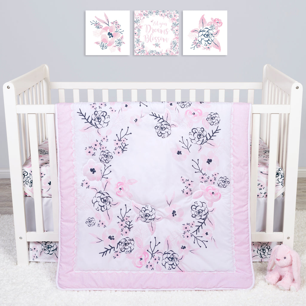 Sammy and Lou Simply Floral 4 Piece Crib Bedding Set Trend Lab, LLC