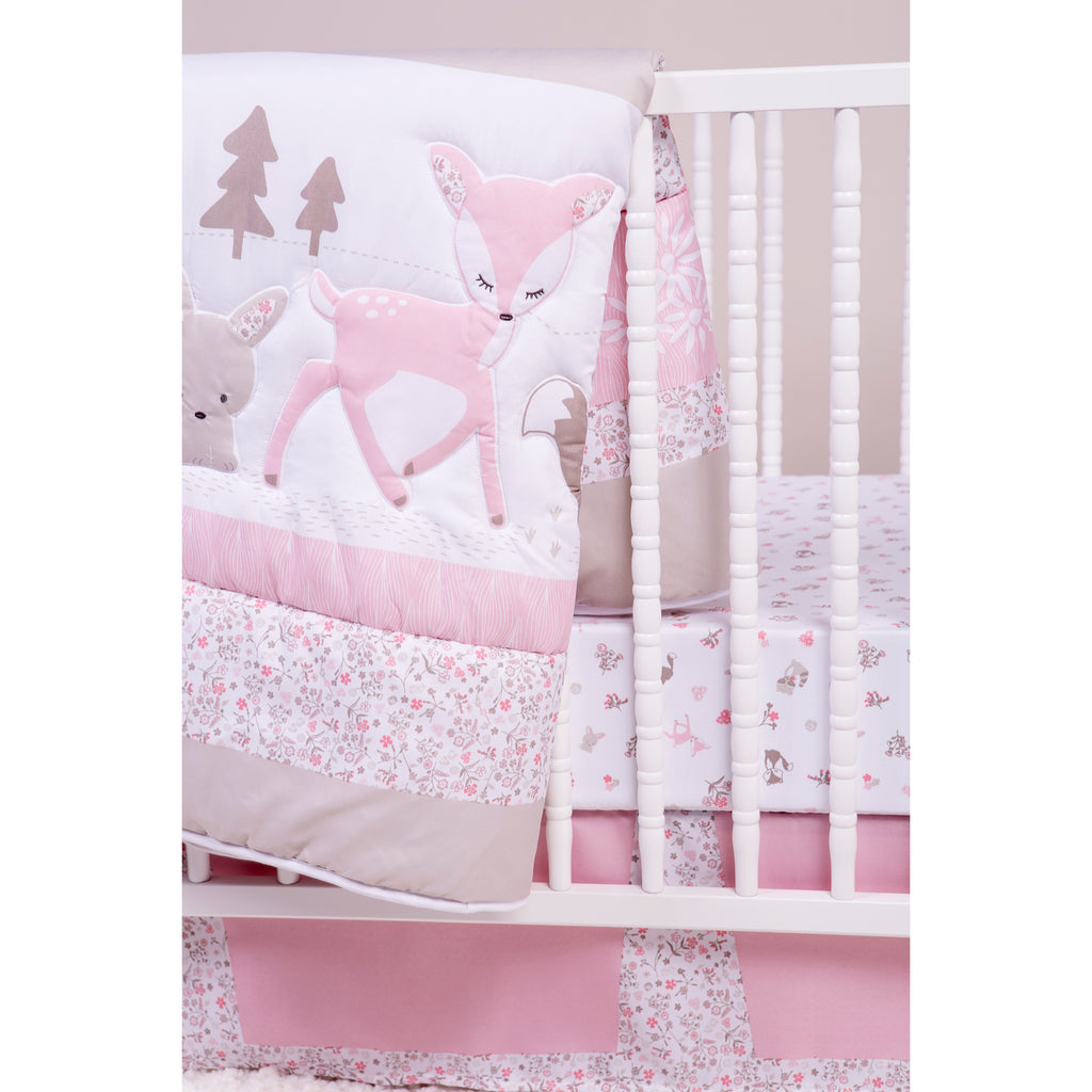 Sammy and Lou Sweet Forest Friends 4 Piece Crib Bedding Set