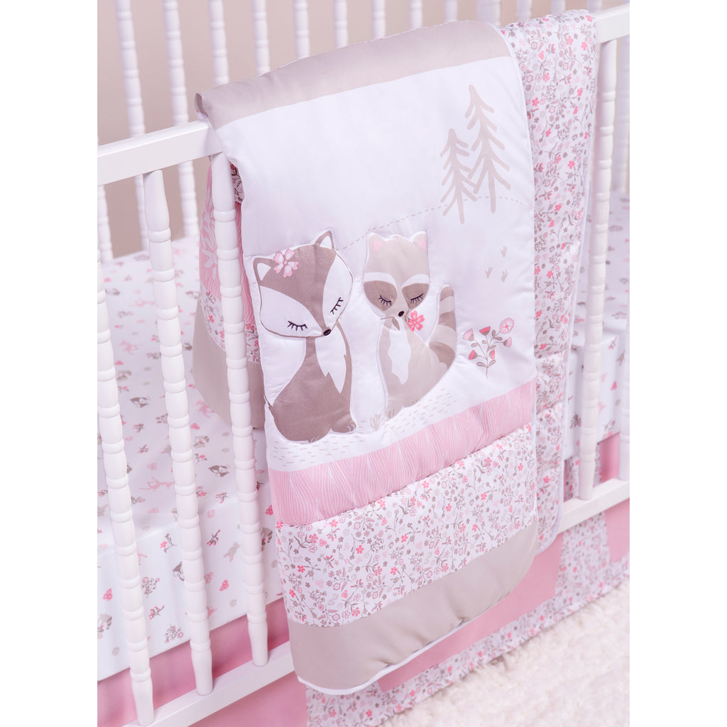 Sammy and Lou Sweet Forest Friends 4 Piece Crib Bedding Set Trend Lab, LLC
