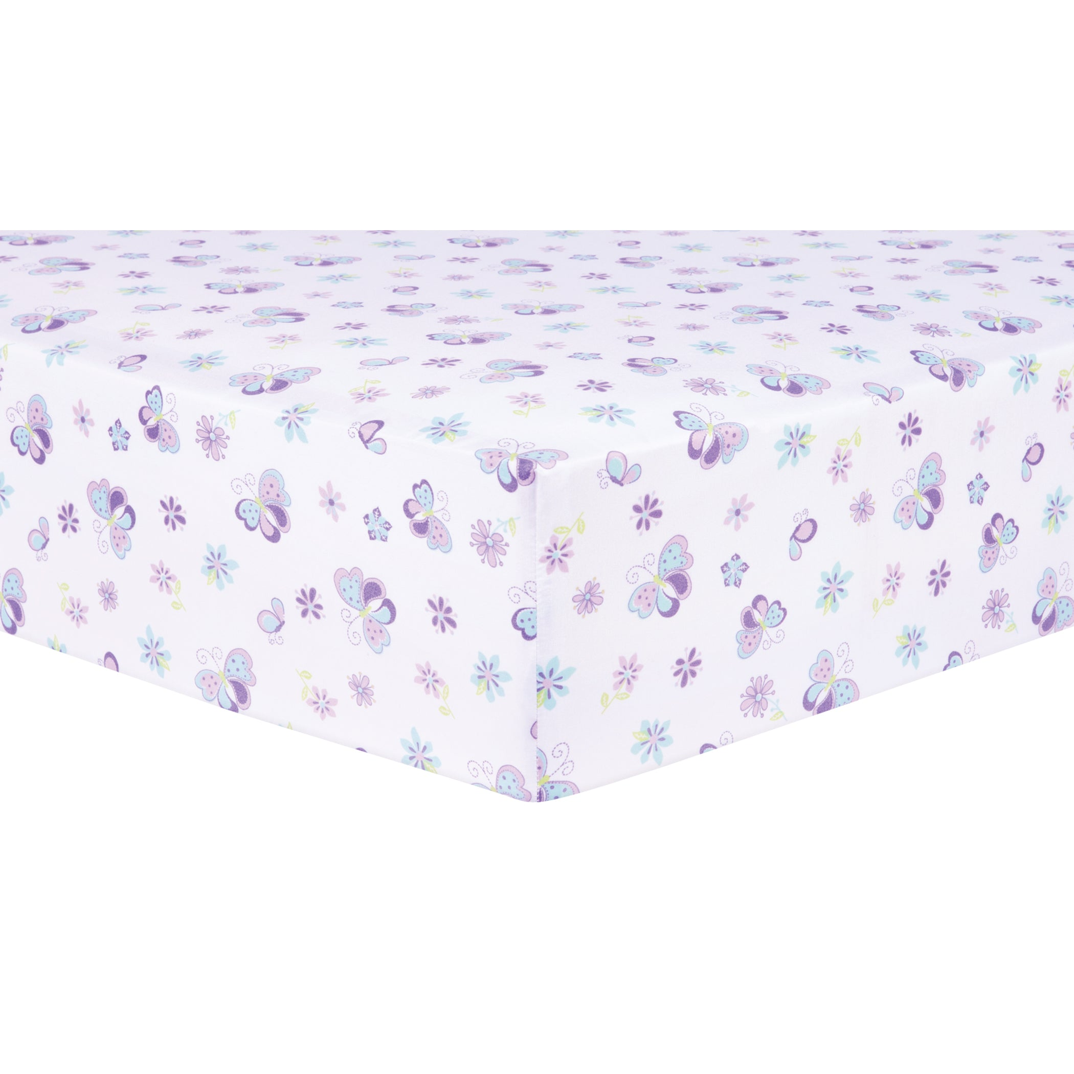 Image of: Sammy And Lou Butterfly Meadow 4 Piece Crib Bedding Set 4 Piece Crib Bedding Trend Lab
