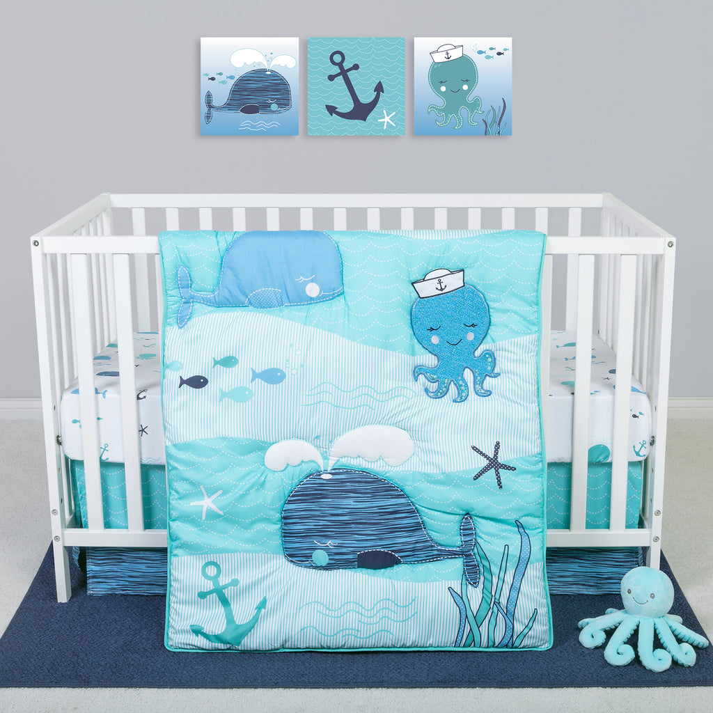 Sammy and Lou Nautical Adventure 4 Piece Crib Bedding Set Trend Lab, LLC
