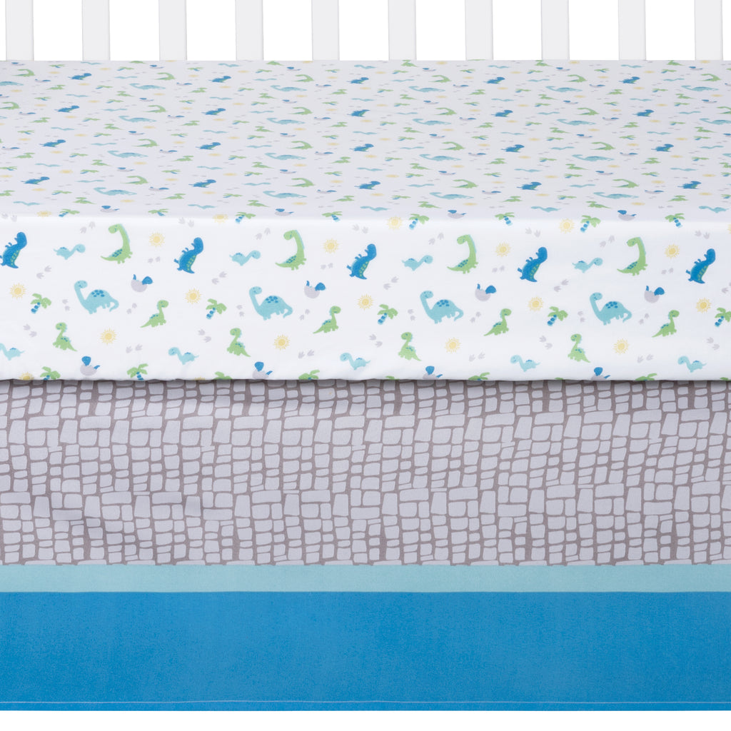 Sammy and Lou Dinosaur Pals 4 Piece Crib Bedding Set Trend Lab, LLC