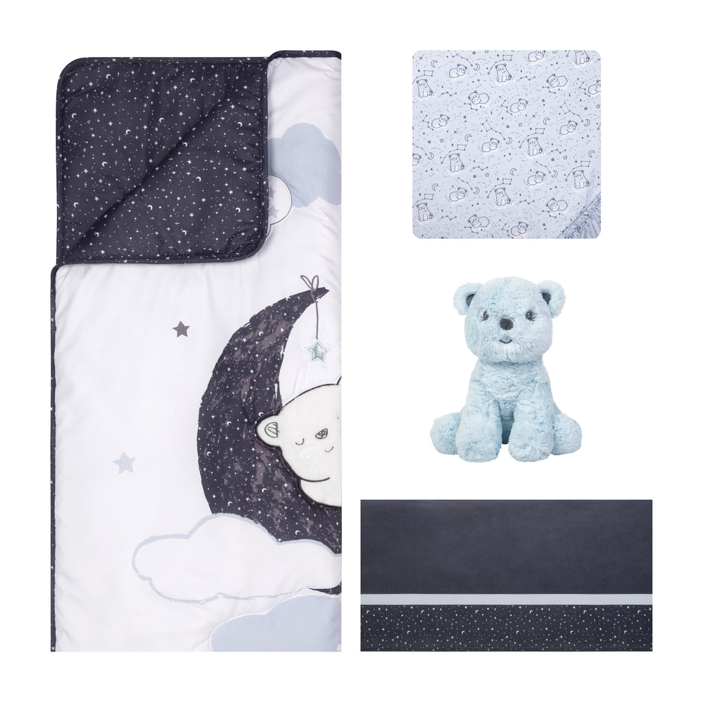 Sammy and Lou Bearly Dreaming 4 Piece Crib Bedding Set Trend Lab, LLC
