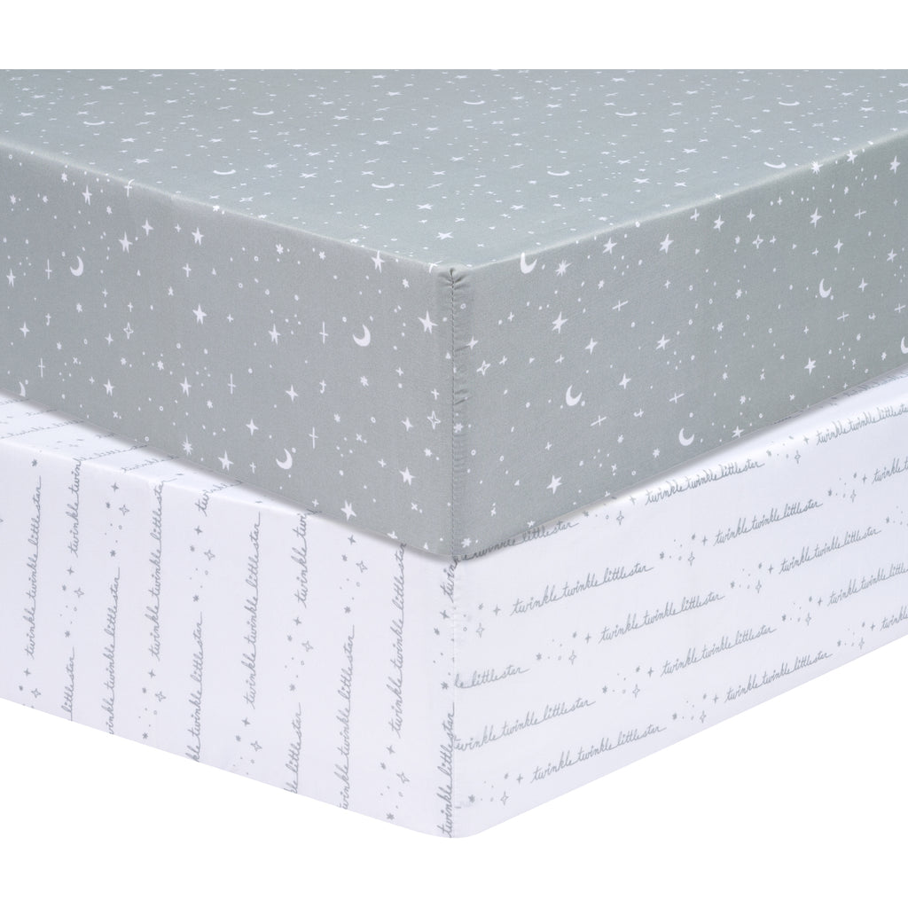 Sammy and Lou Celestial 2 Pack Microfiber Fitted Crib Sheet55357$17.99Trend Lab