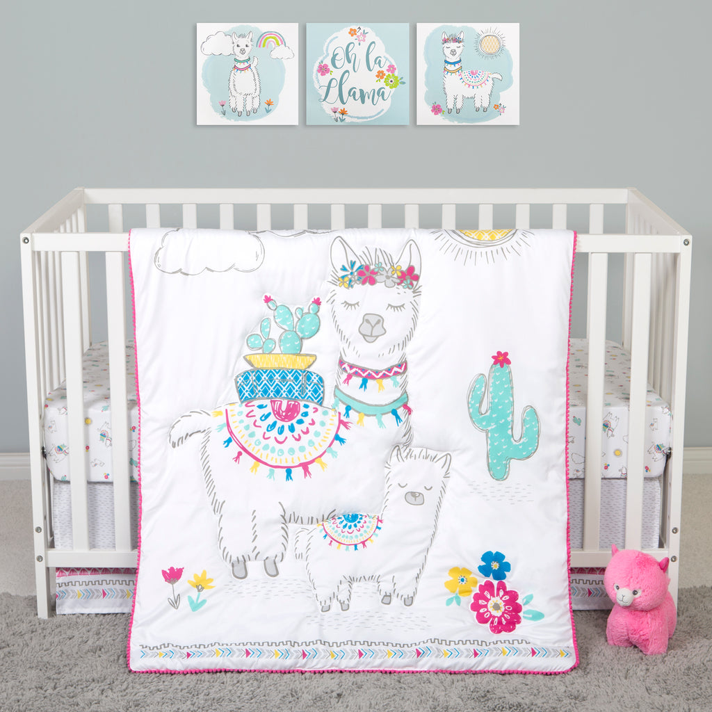 Sammy and Lou Llama Mama 4 Piece Crib Bedding Set55361$69.99Trend Lab