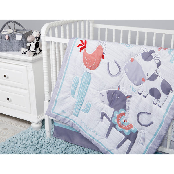 Sammy And Lou Farmstead Friends 4 Piece Crib Bedding Set