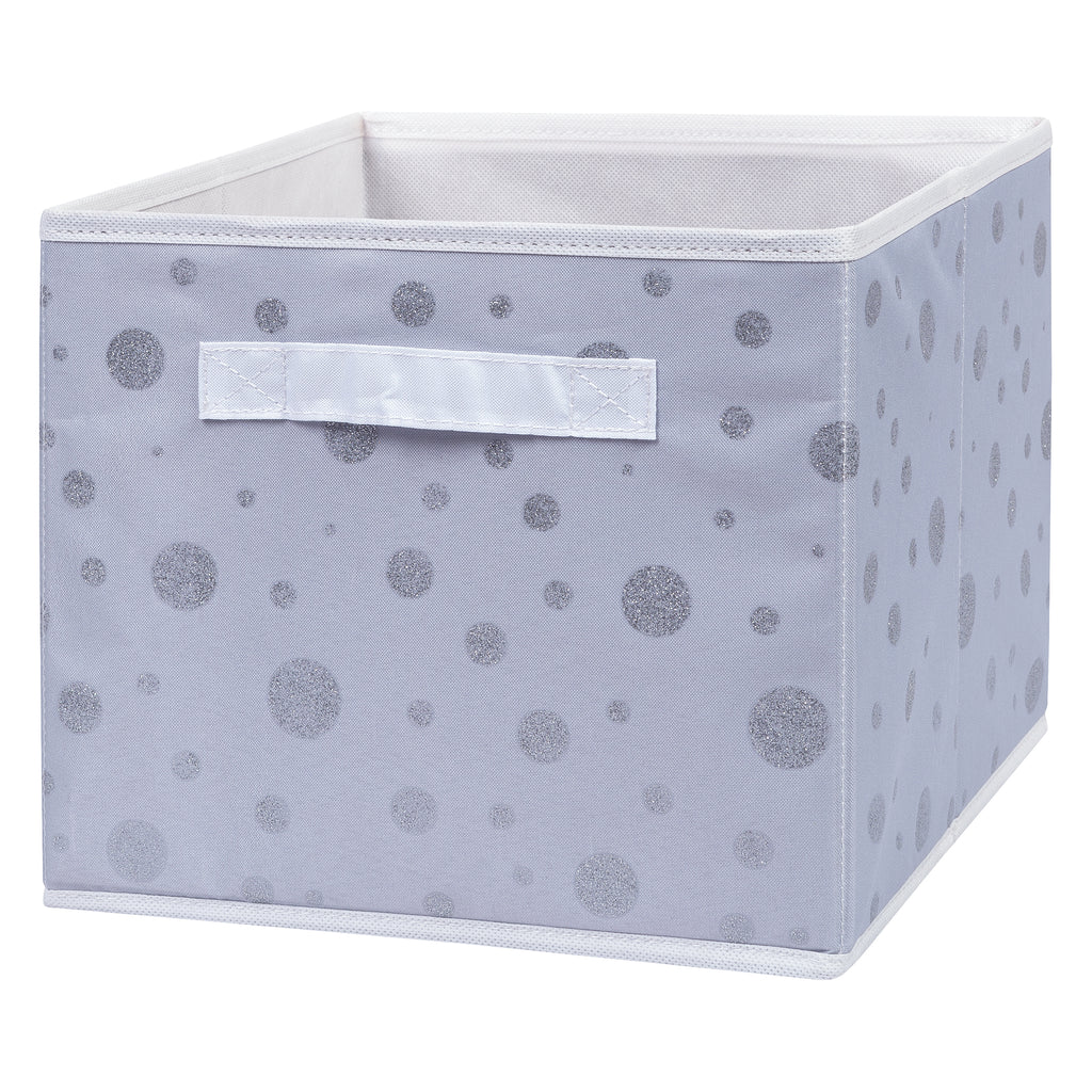 Silver Foil Dot Canvas Storage Bin Trend Lab, LLC