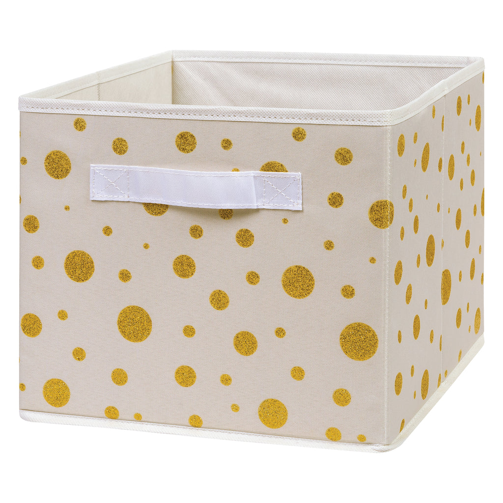 Gold Foil Dot Canvas Storage Bin Trend Lab, LLC