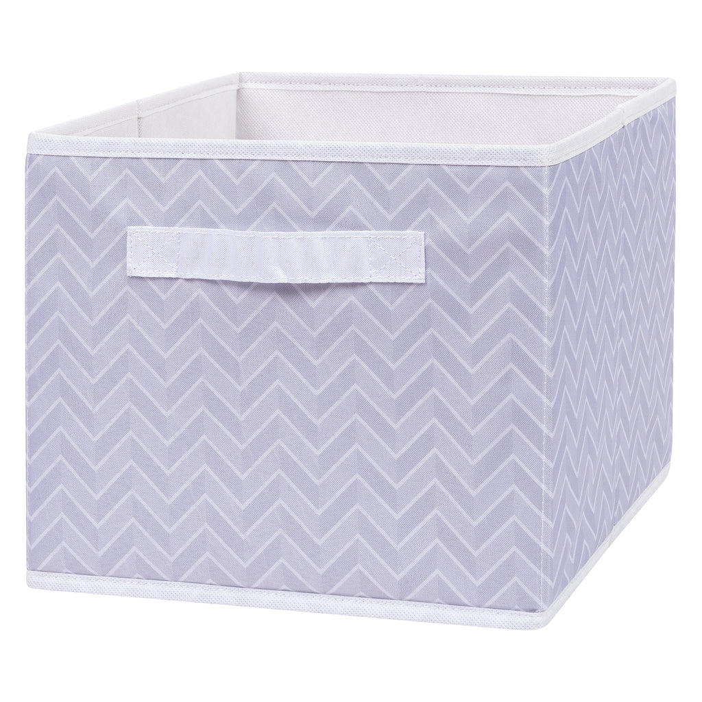 Gray Herringbone Canvas Storage Bin Trend Lab, LLC