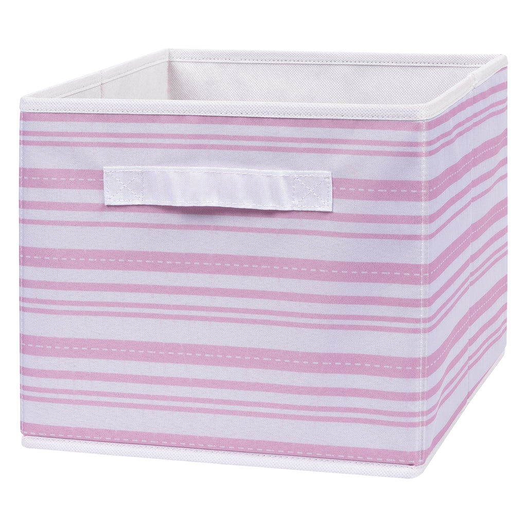 Pink Stripe Canvas Storage Bin Trend Lab, LLC