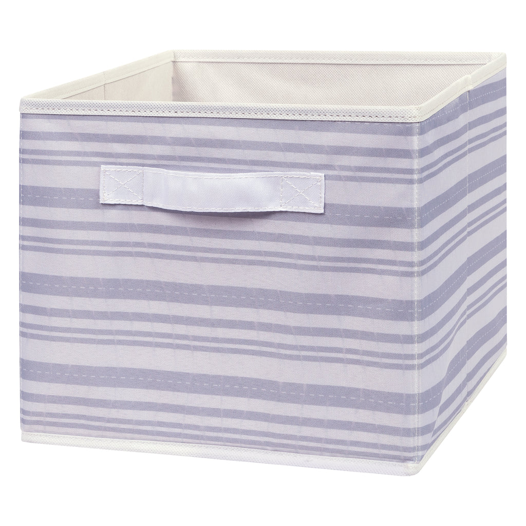 Gray Stripe Canvas Storage Bin Trend Lab, LLC