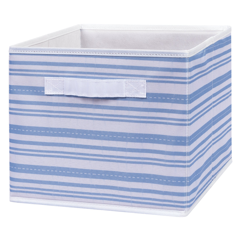 Blue Stripe Canvas Storage Bin Trend Lab, LLC