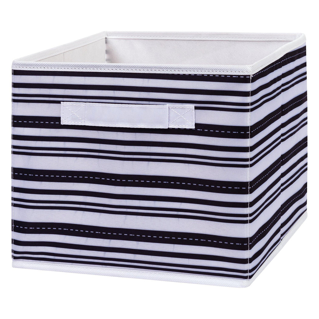 Black Stripe Canvas Storage Bin Trend Lab, LLC