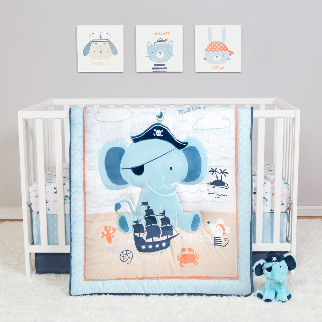 Sammy and Lou Ahoy Archie 4 Piece Crib Bedding Set