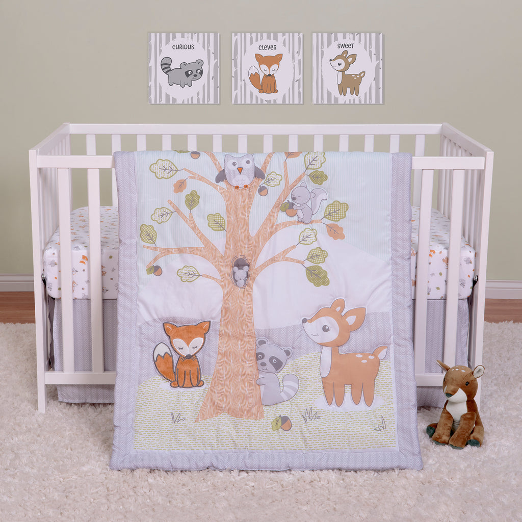 Friendly Forest 4 Piece Crib Bedding Collection by Sammy and Lou