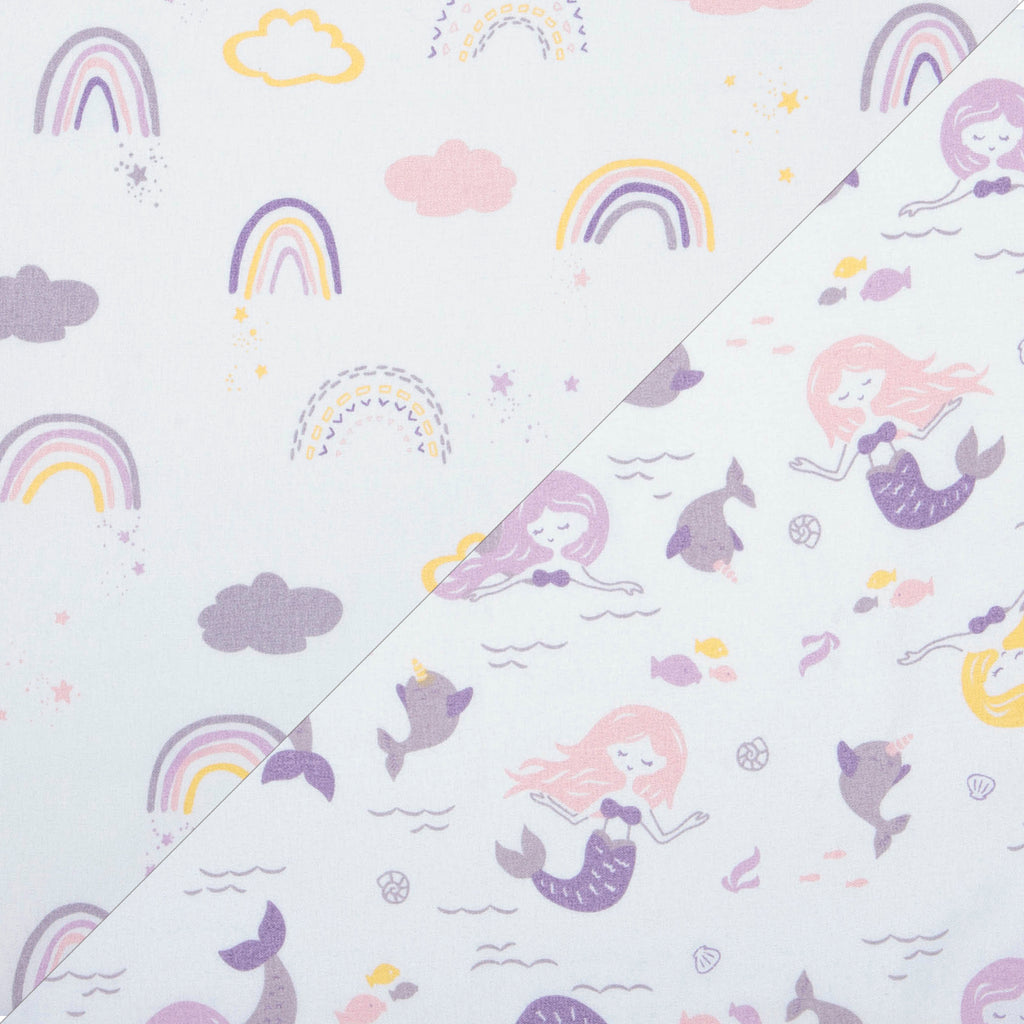 Rainbow & Mermaids 2- Pack Microfiber Fitted Crib Sheet Set by Sammy and Lou55451$17.99Trend Lab