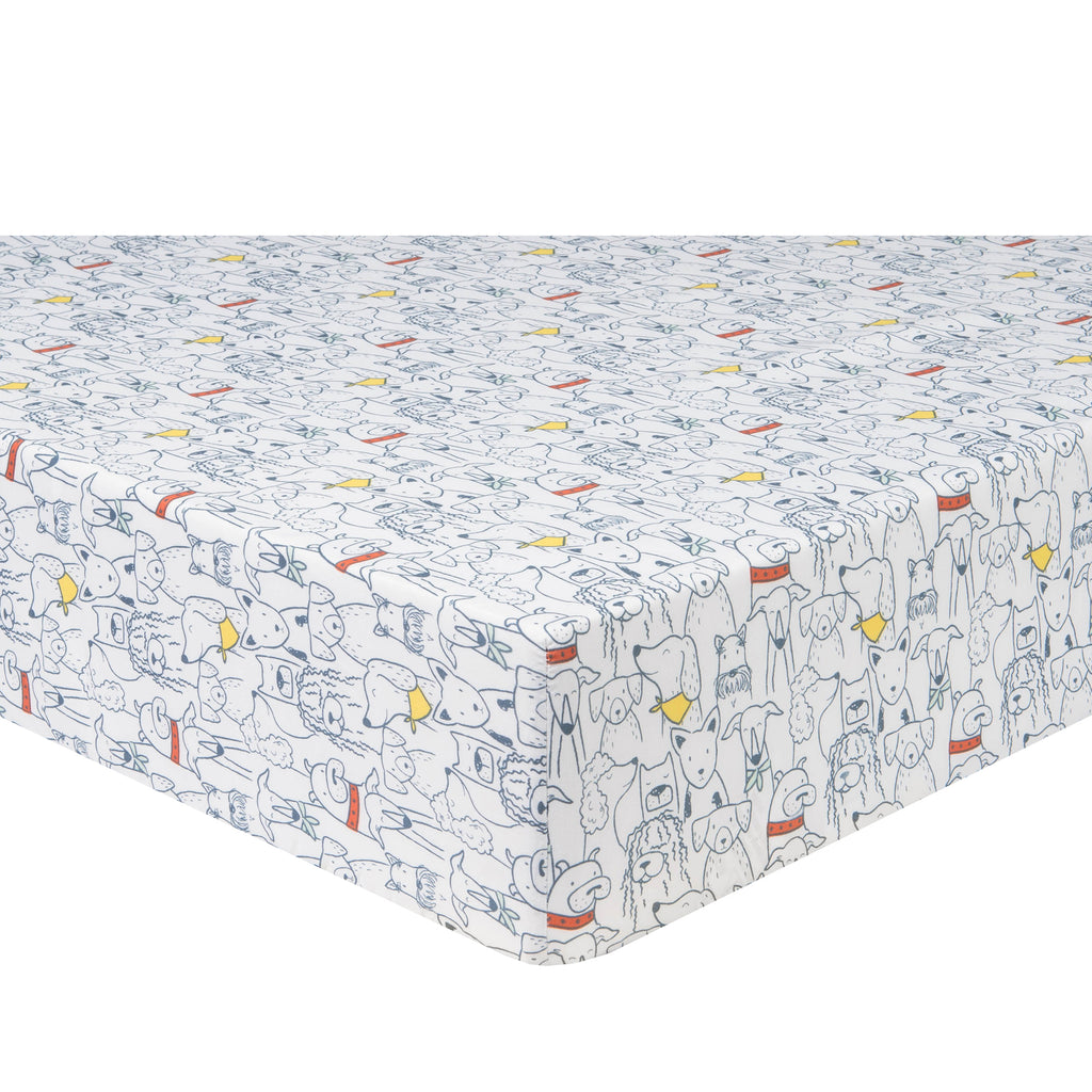 Transportation Pups 2-Pack Microfiber Crib Sheets by Sammy and Lou