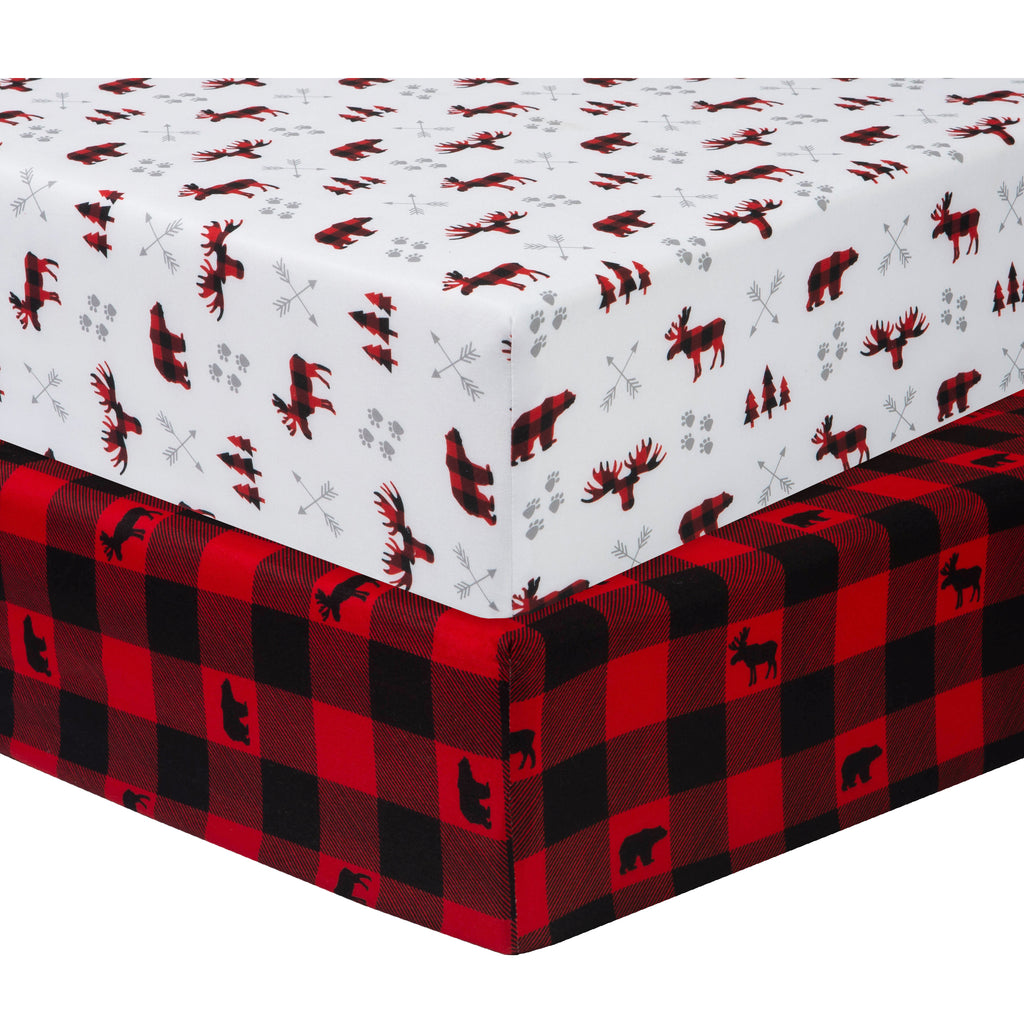 Lumberjack 2-Pack Microfiber Fitted Crib Sheet Set by Sammy and Lou55456$17.99Trend Lab