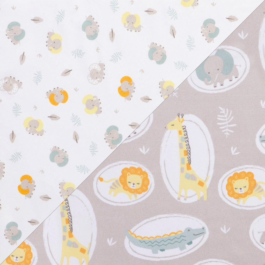Jungle Pals 2- Pack Microfiber Fitted Crib Sheet Set by Sammy and Lou55457$17.99Trend Lab